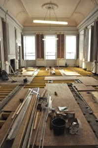 Replacing the joists in the Ballroom.