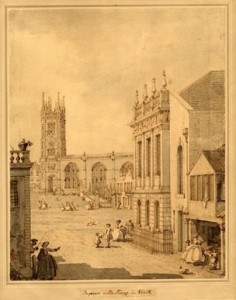 1748 drawing of the Court House by Canaletto