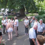 Tours start in the Pageant Gardens