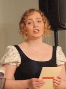 Imogen Parker will sing some popular songs from the Regency era.