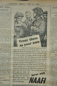 An advert encouraging women to join the NAAFI