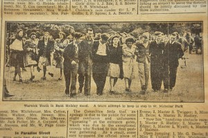 'Warwick youth' in celebratory mood in May 1914!