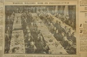WW2 returned POWs having a celebratory dinner in the Court House ballroom