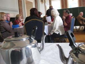 Tea, cake and conversation 'In the Ballroom'.